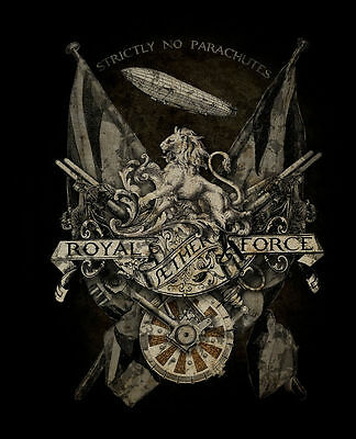 Royal Aether Force, Steampunk Gothic Alchemy Empire Lion, Medium Metal Tin Sign