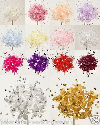 Babies Breath Gypsophila Pearl Flower 16 Colours Card Favour Craft Embellishment