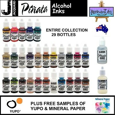Jacquard PINATA - Alcohol Inks - Full Collection 21 Bottles + 10 Free A5 Yupo