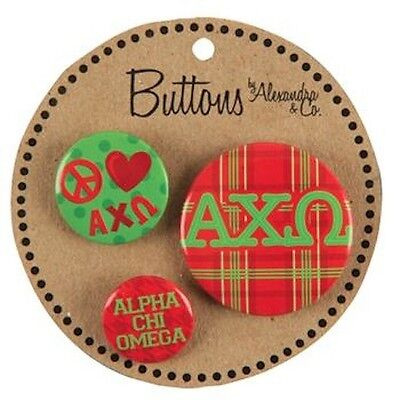 Alpha Chi Omega Sorority Multi-Button Set