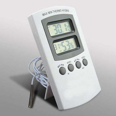 Digital Thermometer & Hygrometer Combined Gauge with remote probe Max/Min