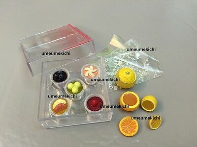 USED Re-ment dollhouse miniature fruit jelly pudding gift set