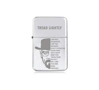 ★STAR★ HEISENBERG TREAD LIGHTER engraved silver black pink gold BREAKING BAD