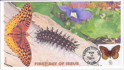 Jvc Cachets - Great Spangled Frillery First Day Covers Fdc Butterfly Topical #1L