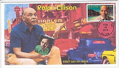 Jvc Cachets - 2014 Ralph Ellison First Day Covers Fdc Black Heritage Topical #3