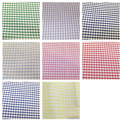 """6.35mm wide 112cm Corded Gingham Fabric 1//4/"""" 44/"""" Check Dress Material"""