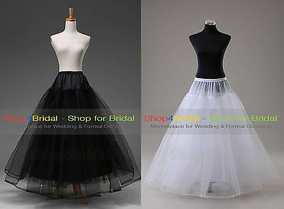 White/Blac​k A Line Hoopless Bridal Wedding Skirts Crinoline Petticoat Slips