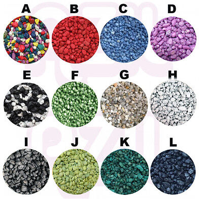 Fish Aquarium Tank Gravel Stones Substrate Coloured + Natural 0.5/1/2/5/10/20kg
