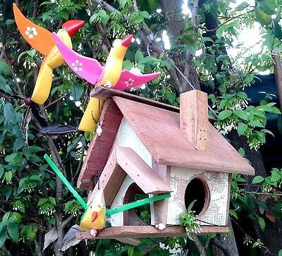 Birds House Wooden Handmade Pet Bed Animal Home Live From Thailand Handcraft