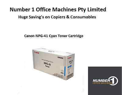Genuine Canon (GPR-28) NPG-41 / TG-41C Cyan Toner - 6,000 pages