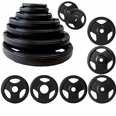 TRI GRIP WEIGHT PLATES 75kg SET DISCS WEIGHTS FITNESS EXERCISE GYM