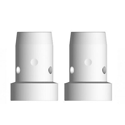 Gas Diffuser MIG  - MB38 - Long Life - White Ceramic - 2 Pack - Binzel Style