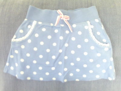 Girls 3-4 Years - Blue Skirt with White Spots - Marks & Spencer