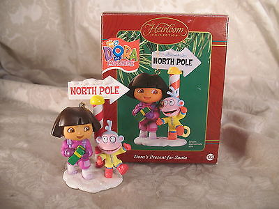 Heirloom Collection Dora Explorer Present for Santa Christmas Holiday Ornament