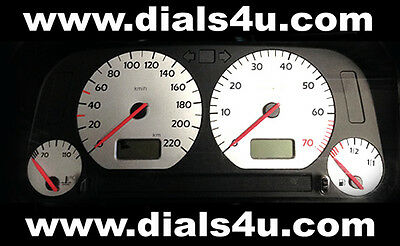 VOLKSWAGEN VW GOLF Mk3 (1991-1999) - 220km/h or 240km/h - WHITE DIAL KIT