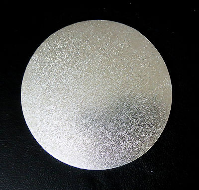 "5"" - 6"" - 7"" - 8"" - 9"" Masonite Cake Board Silver Round Thickness 5mm"