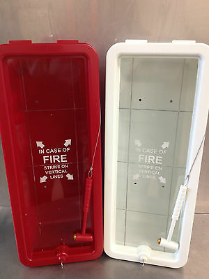 FireTech 10 lb Fire Extinguisher Cabinet - Indoor/Outdoor - Red - Free Shipping