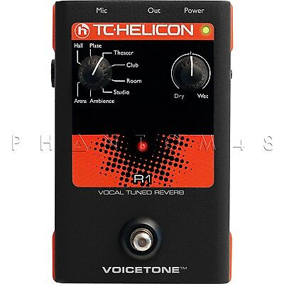 TC-Helicon VoiceTone R1 Vocal Reverb/Echo Live Effects Pedal