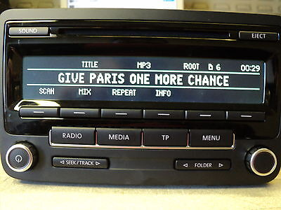 Vw Golf Passat Caddy Etc Rcd310 Led Display Radio Cd Mp3 Player 5M0 035 186