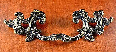 """VINTAGE Mid-Century FRENCH PROVENCIAL Furniture Pulls KEELER BRASS C-C 3 1/2"""""""