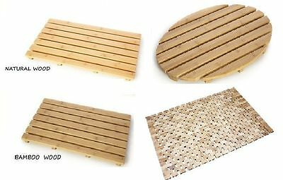 Natural Bamboo Wood Duck Board Wooden Large Bath Shower 100% Cork Mat Bathroom