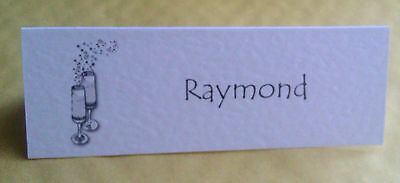 10 Large Place Cards / Name Cards Personalised Wedding Birthday Anniversary Cham