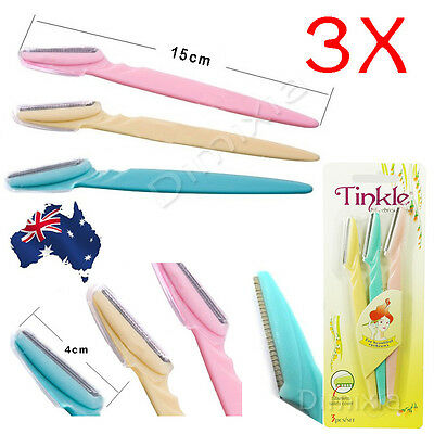 3X Eyebrow Trimmer Tinkle Facial Blade Knife Razor Hair Shaver Remover Shaper
