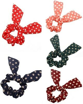 Mouldable Wired Bendy Bunny Ears Polka Dot Alice Hairband Headband Accessories.