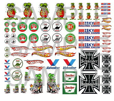hot wheels decals water slide 1:64 scale decal sheet 1/64 #11