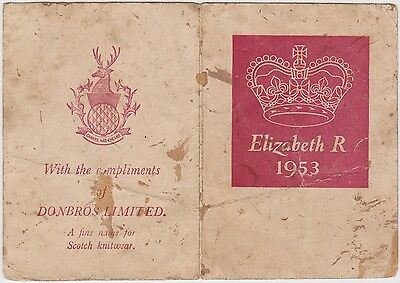 (EJ9) 1953 GB royal order of succession card QEII