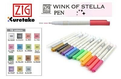 ZIG (Kuretake) WINK OF STELLA GLITTER PEN  (15 Colors Available) x 1 Pen