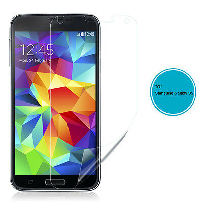 2x 4x Clear LCD Screen Protector Guard Film for Samsung Galaxy S5 SV i9600 Lot