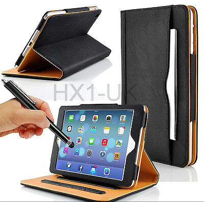 Black & Tan Stand Smart Magnetic Leather Case Cover For Apple Ipad 2 3 4 Air Pro