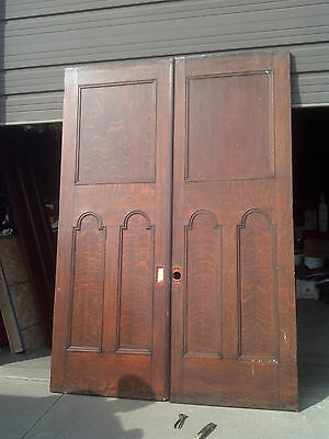 Tall double door set carved floral detail (ED 16)