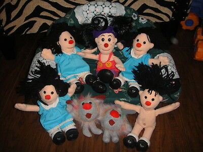 Big Comfy Couch Plush Couch And 7 Mini Dolls Dust Bunnies Molly +