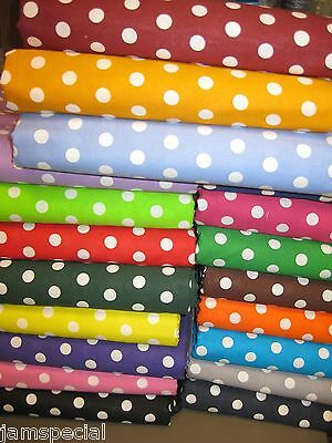 "Polka Dot Fabric 1 yd  UPick  green blue purple black pink yellow red 3/8"" Small"