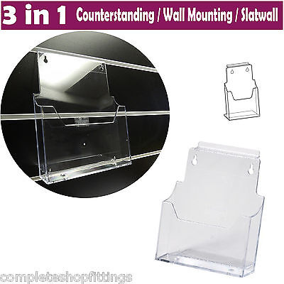New 3 In 1 Leaflet Dispenser - Counterstanding / Wall Mounting / Slatwall