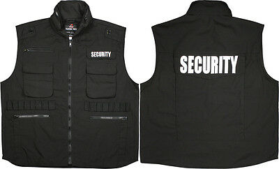 Black Military Security Tactical Law Enforcement Ranger Vest With Hood S TO 4X