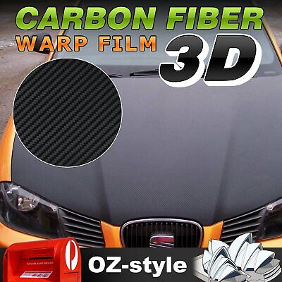 1.51 x 3M 3D Black Carbon Fiber Vinyl Film Wrap Car Protector Sticker Decals DIY