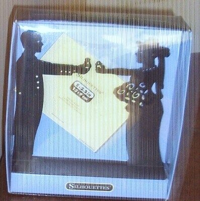 """SILHOUETTES Man and Women Black Metal Photo Picture Frame 5"""" X 3.5"""" New"""