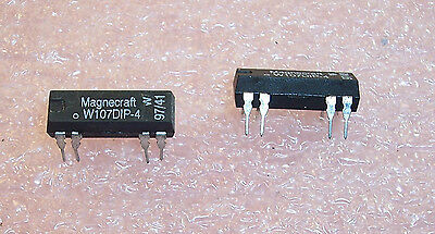 Qty (5) W107Dip-4 Magnecraft Reed Relay 24V 0.5A Spst-No