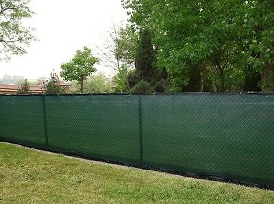 6ft x 50ft PRIVACY SCREEN MESH SHADE CLOTH W/BINDING & GROMMETS - 85% BLOCKAGE