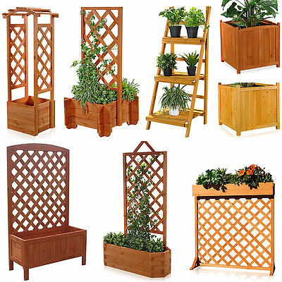rankkasten mit rankgitter holz rankhilfe blumenkasten blumenst nder blumenk bel eur 19 75. Black Bedroom Furniture Sets. Home Design Ideas