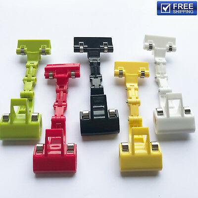 New Exhibitions Jointed Design Double Clamps Red Plastic Poster Pop Display Clip
