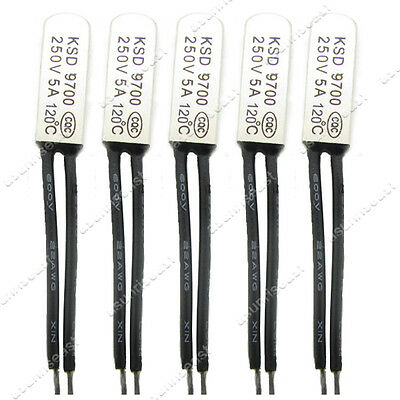 10 × Temperature Switch 120°C 248℉ NC Thermostat Metal Case KSD9700 250V 5A