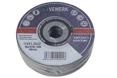Stainless Steel Metal Cutting Angle Grinder Discs 75 100 115 230mm Various Qty