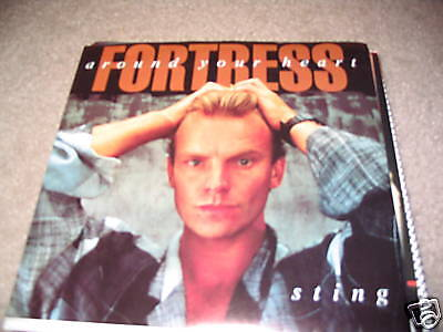 Sting;Fortress Around Your Heart on 45 + Pic sleeve
