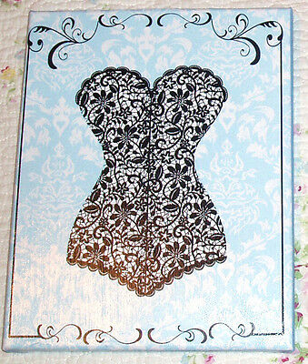 8x10 Sign, Shabby- Cottage, French-Vintage Decor-LACE CAMISOLE-Color Choice