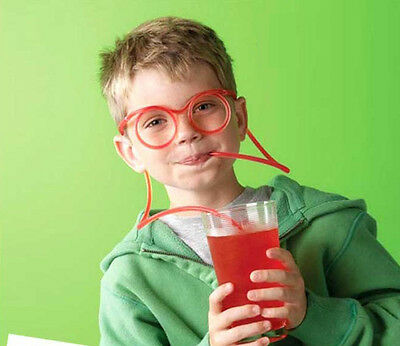 Colors Novelty Toy Gift Gag Drinking Straw Eye Glasses Soft Silly //yiwu33