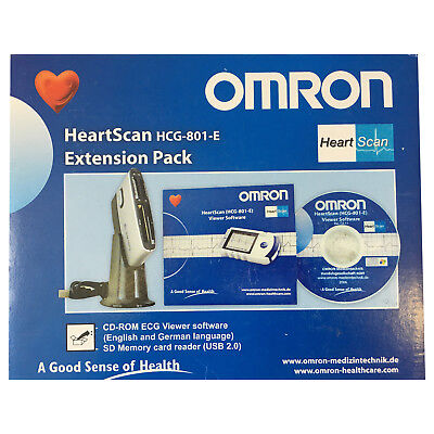Omron HeartScan HCG-801 ECG Heart Monitor Extension Pack Software & Dock Only